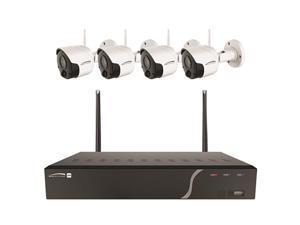 Speco - ZIPK4W2 - Speco 4 Channel Wireless NVR Kit with Four 2MP Wireless IP Cameras, 1TB - Network Video Recorder,
