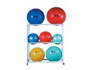 Champion Sports FPR1 Ball Storage Cart, White