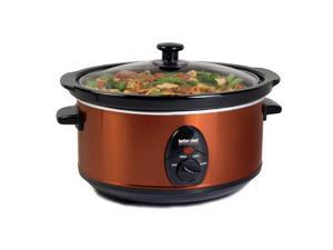 Better Chef 3.7 Quart Slow Cooker with Removable Stoneware - Copper