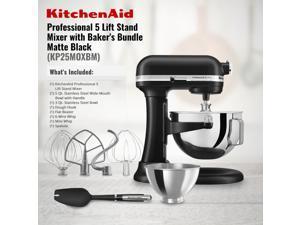 KitchenAid Professional 5 Plus Series 5 Quart Bowl-Lift Stand Mixer with Baker's Bundle – Matte Black