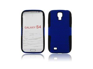 Black/Blue Hybrid Case Soft&Hard 2 Part Cover For Samsung Galaxy S4 i9500