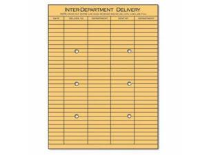 Universal Light Brown Kraft String & Button Interoffice Envelope - UNV63568