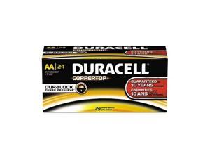 DURACELL CopperTop MN1500 2100mAh 1.5V AA Alkaline Battery, 144 Counts