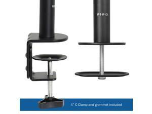 """VIVO Dual Monitor Desk Mount Extra Tall Fully Adjustable Stand for up to 27"""" Screens (STAND-V012)"""