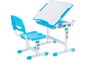 VIVO Height Adjustable Childrens Desk & Chair Kids Interactive Work Station Blue