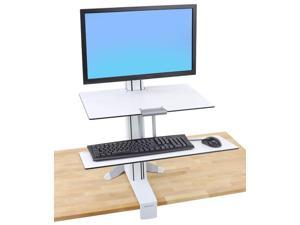 Ergotron - 33-350-211 - WorkFit-S Sit-Stand Workstation w/Worksurface+, LCD LD Monitor, White