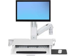 Ergotron StyleView Sit-Stand Combo Arm with Worksurface - Mounting kit ( mouse holder, wrist rest, bar code scanner holder, VESA adapter, wall mount bracket, keyboard tray, flat horizontal surface bas