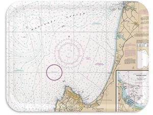Trays4Us Monterey Bay Nautical Chart Birch Wood Veneer 16x12 inches (Large) TV/Serving Map Tray - 100+ Different Designs
