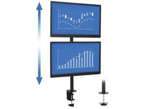 """Mount-It! Vertical Dual Monitor Stand   Fits 19""""-32"""" Monitors   Desk Mount"""