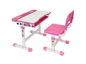 Mount-It! Kids Desk and Chair Set, Pink