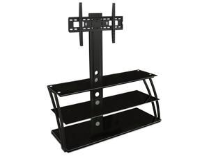 "Mount-It! TV Entertainment Center with Glass Shelves Up to 60"" TVs"