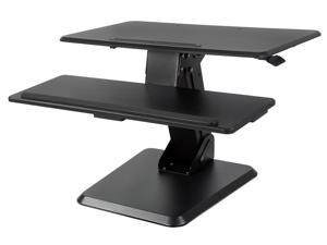Mount-It! MI-7960 - Standing Desk Converter- 32 inch- Spring Loaded Gas Spring Arm