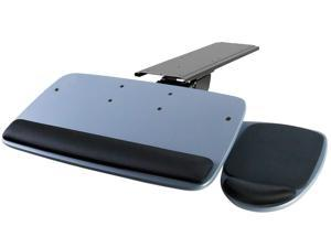 Mount-It! Under Desk Keyboard Tray with Ergonomic Wrist Rest Pad |17.25 Inch Track