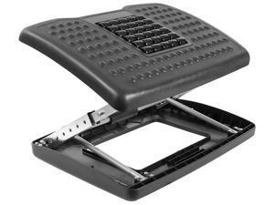 Mount-It! Adjustable Footrest with Massaging Bead   Adjustable Height and Tilt   Black