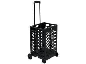 Mount-It! Mesh Rolling Utility Cart | Folding and Collapsible Hand Crate on Wheels | 55 Lbs Capacity