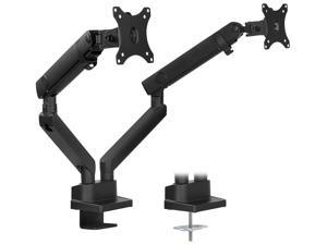 Mount-It! Dual Monitor Arm Mount Desk Stand | Fits Two 24 to 32 inch Screens