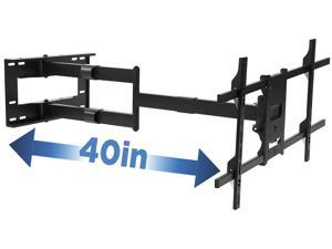 Mount-It! Full Motion Wall Bracket with 40 inch Extension | Fits 40-80 Inch TVs