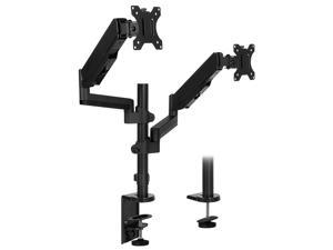 Mount-It! Dual Monitor Arm Mount Desk Stand | Vertical Stackable Arms | Fits 24-32 Inch Screens