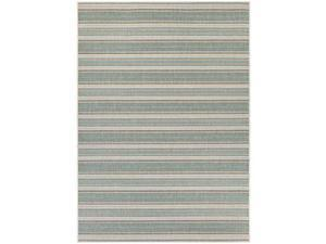 Couristan Monaco Marbella Rug In Blue Mist-Ivory - 5 Foot 3 Inch x 7 Foot 6 Inch