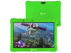 Contixo K101A 10 inch IPS Display Kids Tablet with 2GB RAM 16GB ROM Android 10 Parental Control for Children Infant Toddlers at Home School, Educational Tablet for Kids, WiFi, Child-Proof Case, Green