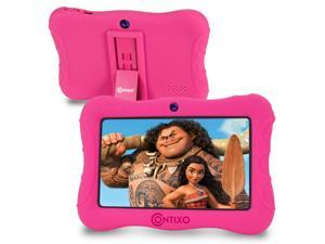 Contixo V9-3-32 7 Inch Kids Tablet, 2GB RAM 32 GB ROM, Android 10 Tablet, Educational Tablets for Kids, Parental Control Pre Installed Learning Game Apps WiFi Bluetooth Tablets for Kids, Pink