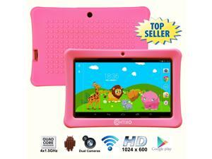 Contixo 7 Inch Quad Core Android 4.4 Kids Tablet, HD Display 1024x600, 1GB RAM, 8GB Storage, Dual Cameras, Wi-Fi, Kids Place App & Google Play Store Pre-installed, Kid-Proof Case (Pink)