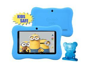 "Contixo Kids Safe 7"" Quad-Core Android 4.4 Tablet, 8GB Storage, Bluetooth, Wi-Fi, Dual Camera and 20+ Free Games, HD Edition w/ Kids-Place Parental Control Pre-Installed, Kid-Proof Case (Blue)"