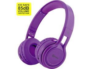 Contixo KB-2600 Kid Safe 85dB Over The Ear Foldable Wireless Bluetooth Headphone with Volume Limiter, Built-in Micro Phone, Micro SD Card Music Player, FM Stereo Radio, Purple