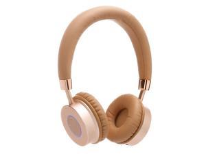 Contixo KB200 Premium Kids Headphones W/Volume Limit Controls (85db Max) Wireless Bluetooth Headphones Over-the-Ear W/Microphone (Gold) - Best Gift