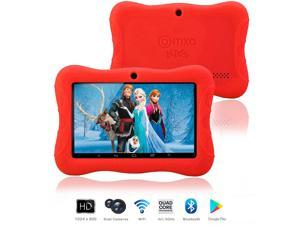 """Contixo Kids Safe 7"""" Quad-Core Android 4.4 Tablet, 8GB Storage, Bluetooth, Wi-Fi, Dual Camera and 20+ Free Games, HD Edition w/ Kids-Place Parental Control Pre-Installed, Kid-Proof Case (Red)"""
