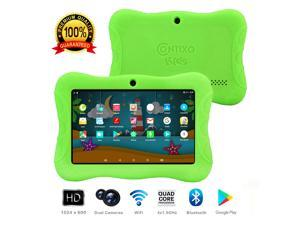 "Contixo Kids Safe 7"" Quad-Core Android 4.4 Tablet, 8GB Storage, Bluetooth, Wi-Fi, Dual Camera and 20+ Free Games, HD Edition w/ Kids-Place Parental Control Pre-Installed, Kid-Proof Case (Green)"