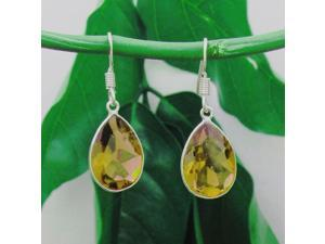 Genuine 8 Cttw Natural Pear Shaped Smoky Quartz Earrings In Sterling Silver