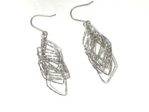 Elegant 1 Inches Prism Dangle Earrings In 925 Sterling Silver