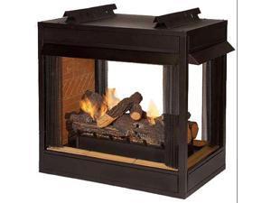 "Premium VF 36"" Peninsula Fire Box - Louvered"