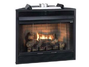 """Deluxe MV 34"""" Flush Face B-Vent Fireplace - Natural Gas"""