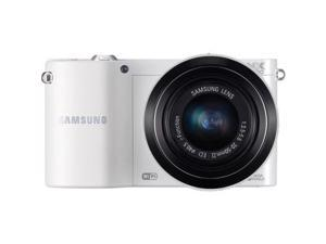 Samsung NX1100 20.3MP Mirrorless Digital Camera with 20-50mm f/3.5-5.6 Lens (EV-NX1100BFWUS) White