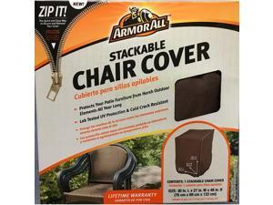 Armor All 07806AA Protective Cover - Supports Patio Chair - Rectangular - UV Resistant, Cold Resistant, Crack Resistant, Durable, Elastic Hem Cord, Handle, Ventilated, Double Stitched, Buckle Closure,