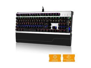 SIIG USB Wired Mechanical Gaming Keyboard With 7 Color LED Backlit