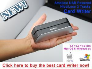MSRX6 1/3 Size of MSR206 MSR605 MSR606 Smallest Magnetic Stripe Credit Card Reader Writer Encoder Powered by USB.Work with Windows and MAC computer
