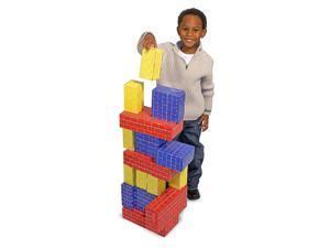Melissa & Doug Basic Cardboard Blocks 40 Pieces