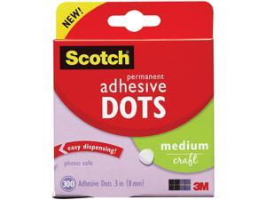 3M 010300M 300-Pack Adhesive Dots, Medium