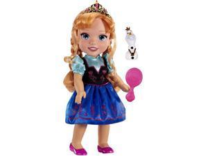 Disney Frozen ANNA Toddler Doll w Hairbrush Tiara & Olaf