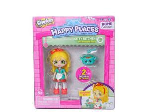 Shopkins Happy Places Kitty Kitchen Doll with Petkin - Spaghetti Sue