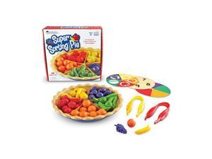 """Learning Resources Super Sorting Pie 8-3/4"""" D 65Pcs Multi LER6216"""
