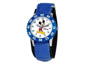 Disney Boy's Mickey Mouse Stainless Steel Watch - Blue Nylon Strap