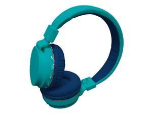 Maxell Safe Soundz Bluetooth Wireless Kids Headphones - Aqua/Blue