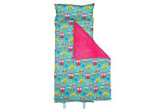 Stephen Joseph Owl All-Over Print Nap Mat with Attached pillow and Blanket