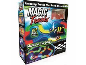 Magic Tracks Glow in the Dark Racetrack - Red Car