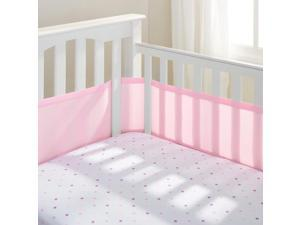 BreathableBaby(R) Classic Breathable(R) Light Pink Mesh Crib Liner