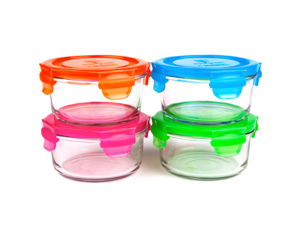 Wean Green Glass Lunch Bowls, 4 Pack, 13 oz each